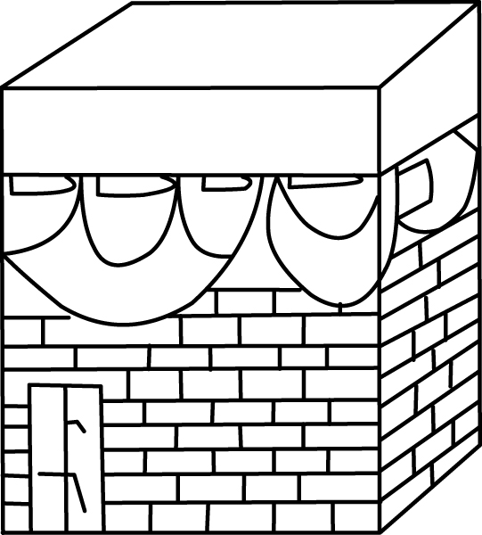 This is a photo of Sizzling Holy Kaba Coloring Page