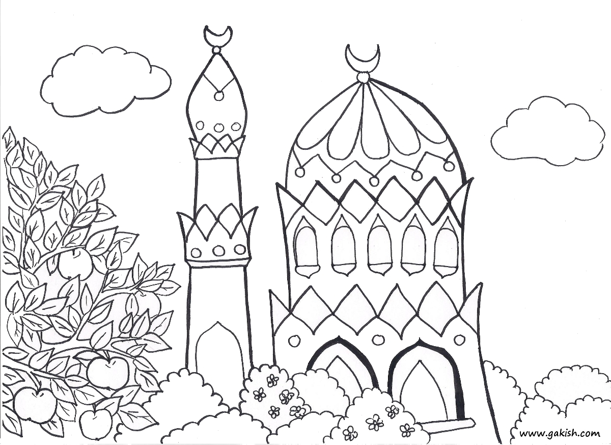 free mosque coloring pages - photo#24